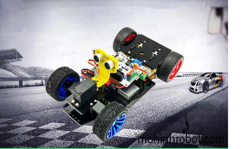 Khung xe 4 bánh thông minh có bánh lái servo