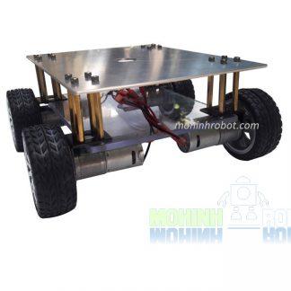 Khung xe robot 4 bánh kim loại động cơ WIK25GA370 - 12V