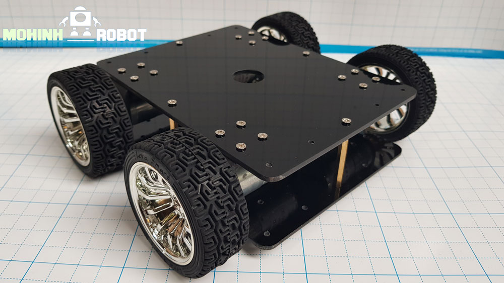 Xe robot 4 bánh động cơ kim loại 365