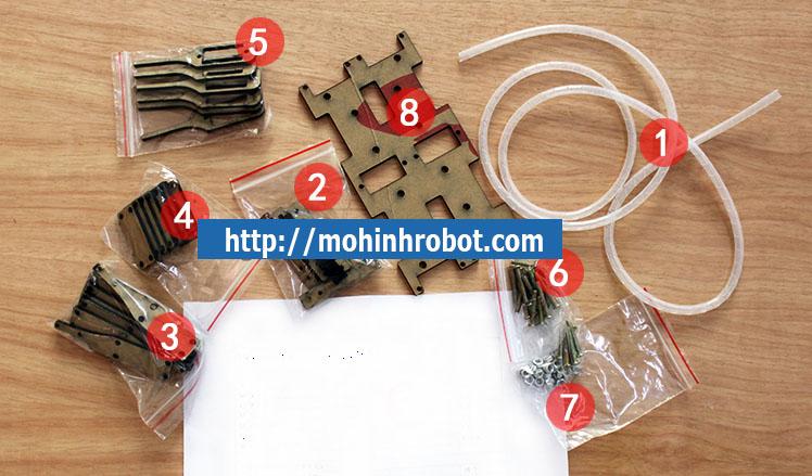 Khung robot nhen 6 chan