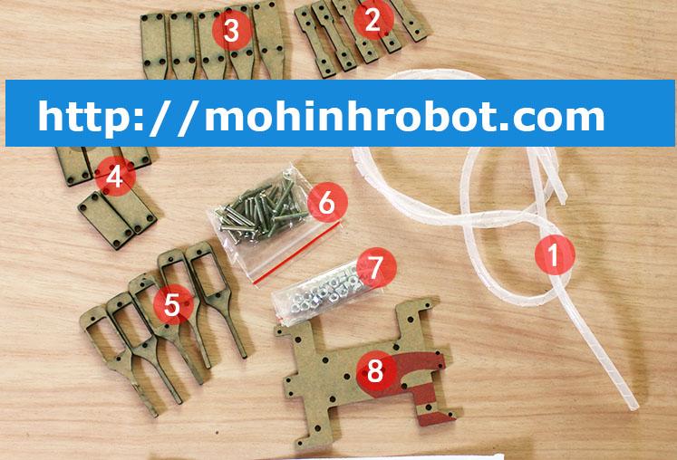 Khung robot nhện 4 chân
