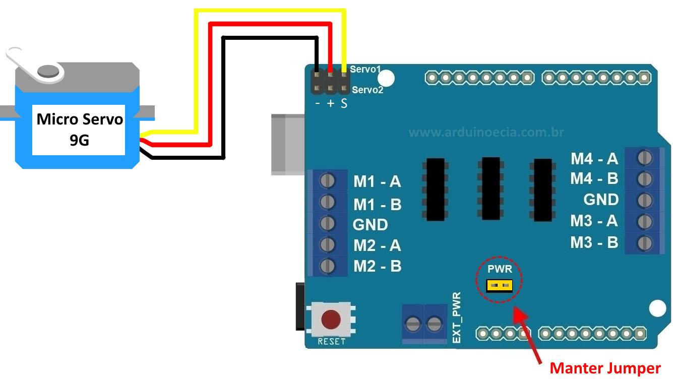 Arduino Motor Shield L293D servo