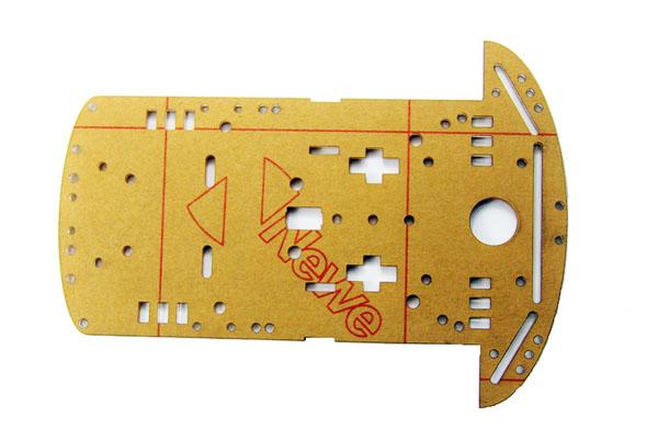 Khung nhựa mica của xe robot 3 bánh