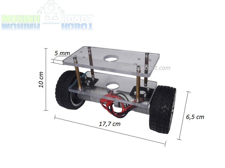 Khung xe robot 2 bánh tự cân bằng