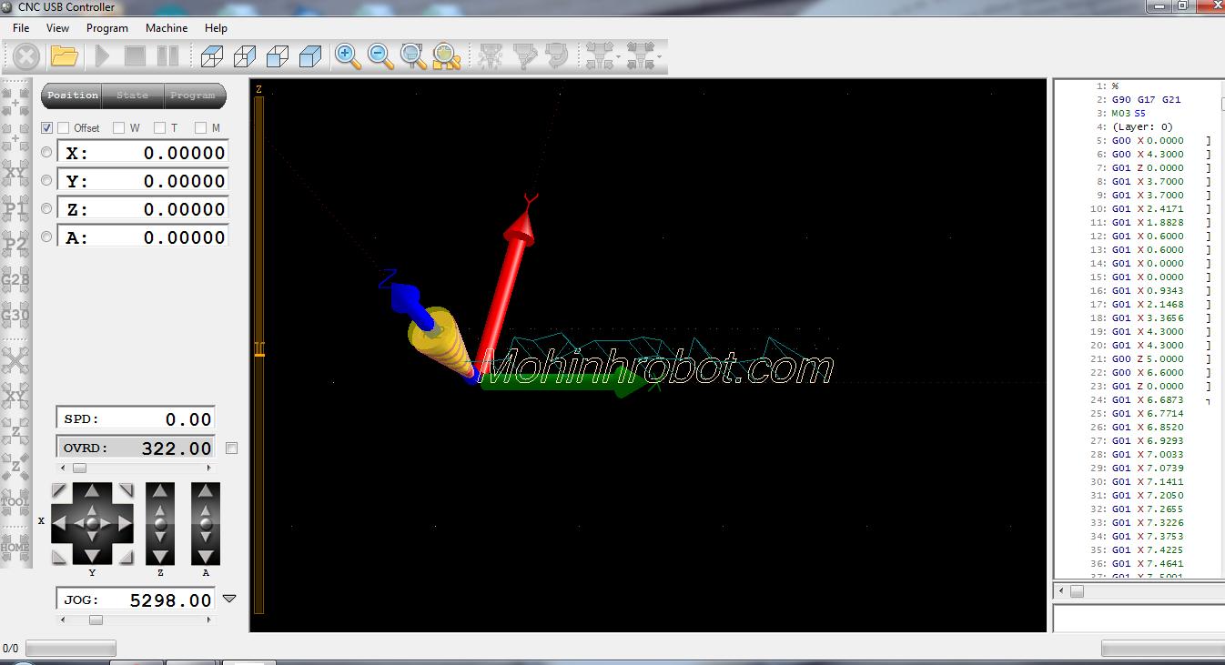 phần mềm USB CNC